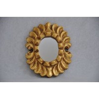 Gilded Hand Carved Hand gilded Wooden Peruvian Mirror