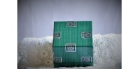 Rond de serviette en étain fin fabriqué en France dans sa boîte d'origine