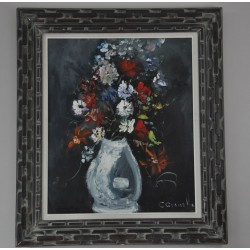 Flowers in Vase Original Oil Painting by Gianolla