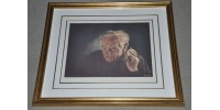Framed Limited Edition Print 93/250  of an Old Watchmaker
