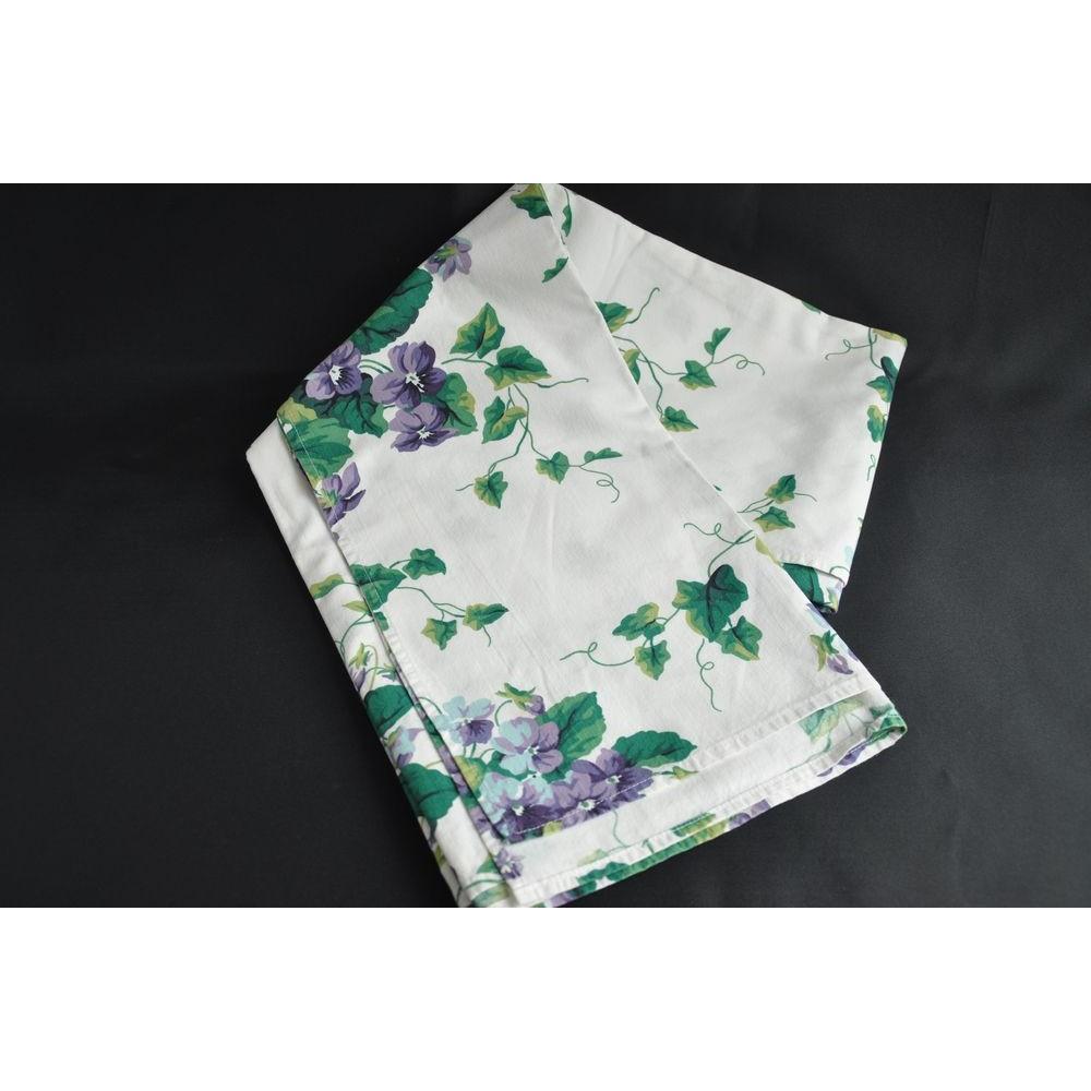 nappe vintage coton motif floral. Black Bedroom Furniture Sets. Home Design Ideas