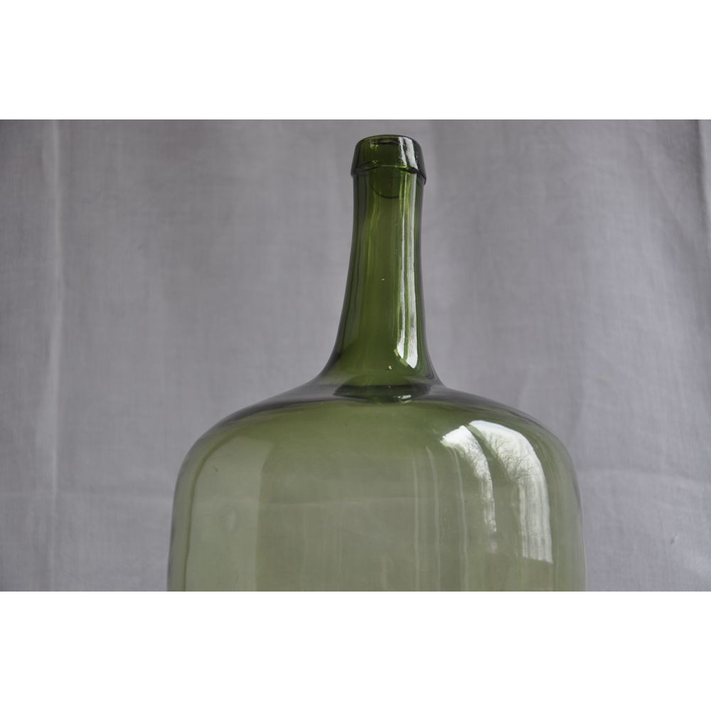 Vintage Demijohn Olive Green Glass Bottle 1 Gallon