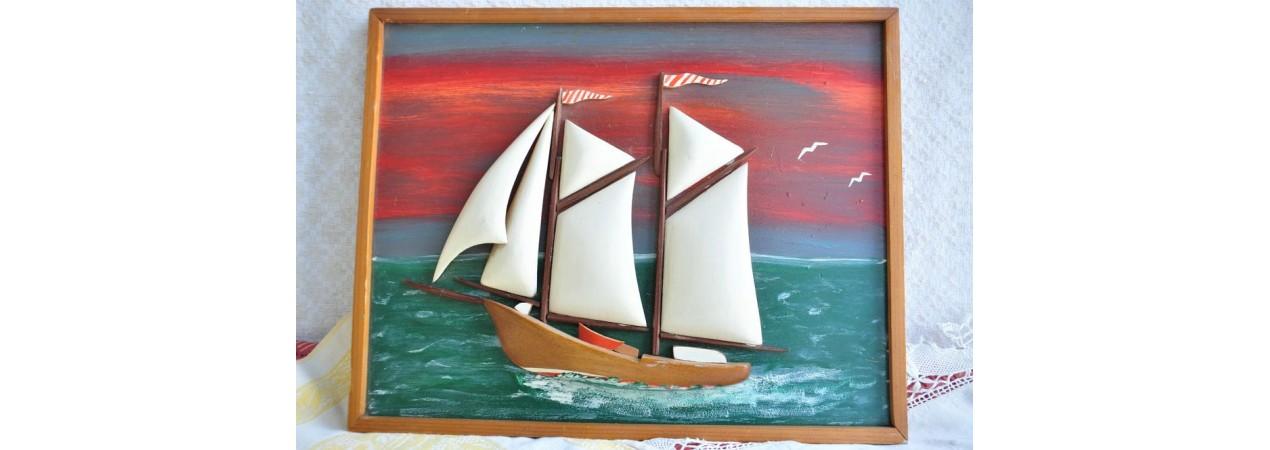 Carved Sailboat