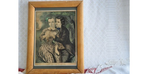 Lithographie originale ancienne de N. Currier