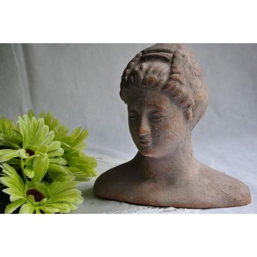 Buste de déesse à l'antique en terracotta