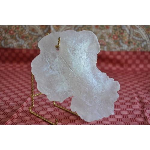 Feuille en pâte de verre coulée et sculptée 1
