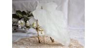Feuille en pâte de verre coulée et sculptée 2
