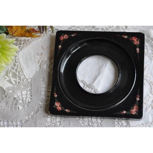 Black Antique 19th c. Ebonised Wood Frame