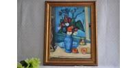 Le vase bleu par Paul Cézanne