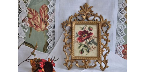Ornate Baroque Gilded Metal Wall Frame