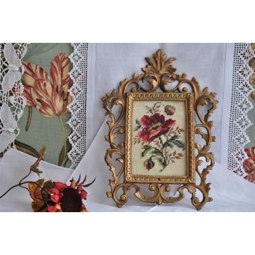 Ornate Baroque Gilded Metal Wall Frame