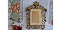 Cadre baroque rétro en métal doré ajouré