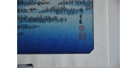 Estampe originale encadrée de Hiroshige Ando