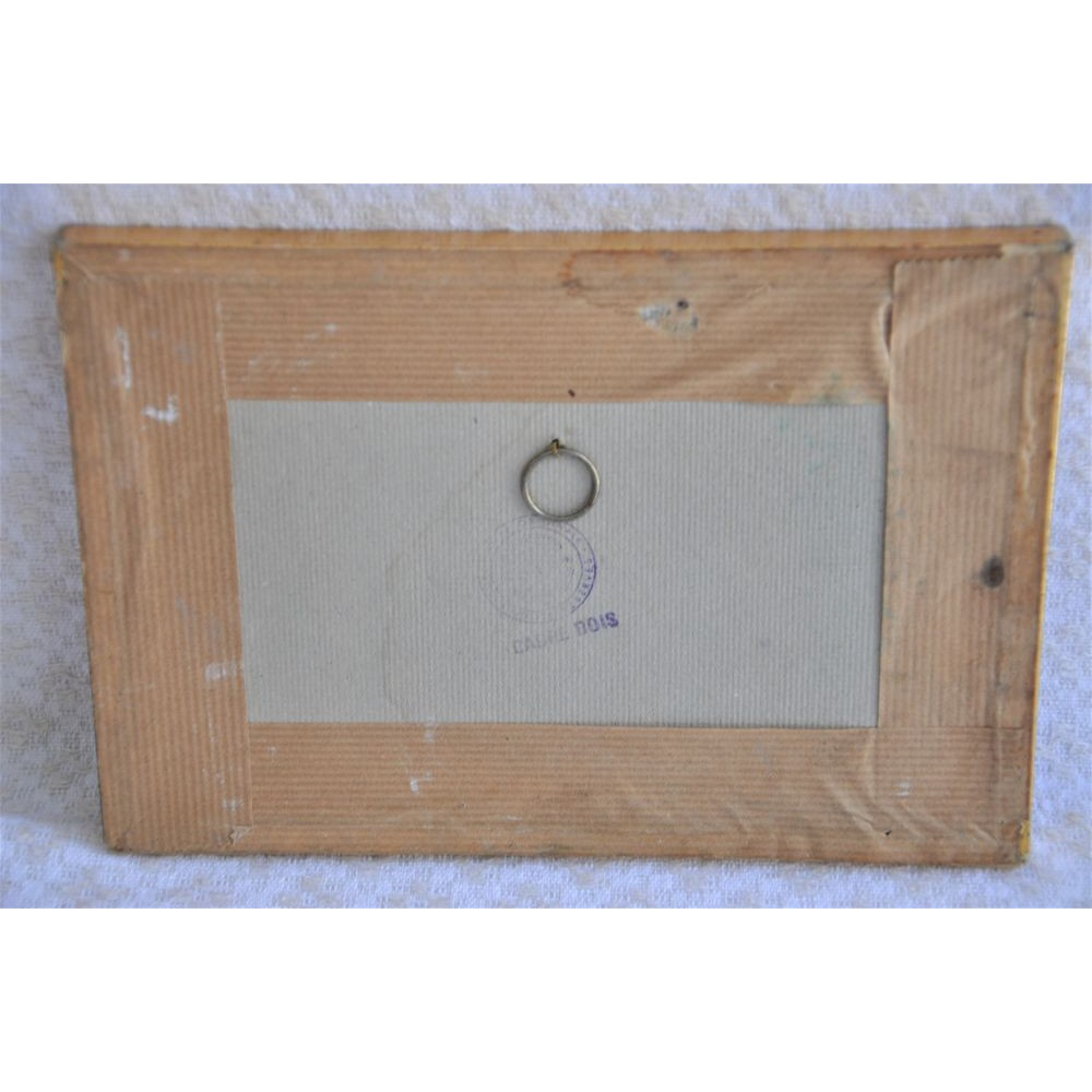 gravure sur bois vintage sign e e a barbara bis xxe. Black Bedroom Furniture Sets. Home Design Ideas