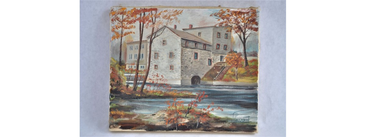 Oil Painting of Legare Flower Mill