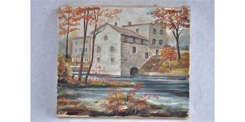 Huile ancienne du moulin Légaré à Saint-Eustache