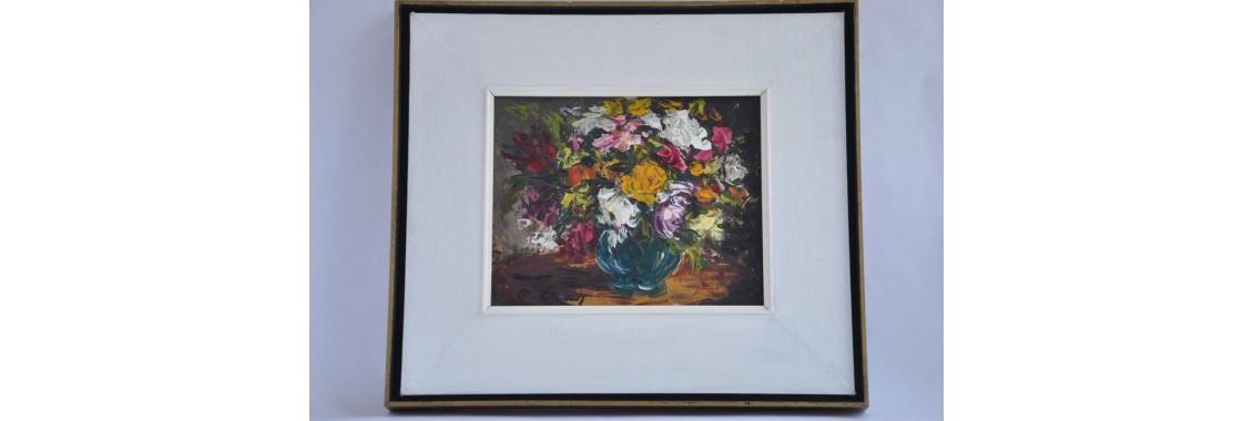 Tableau d'un bouquet de fleurs