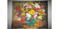 Huile sur toile encradrée signée de la Galerie Royale