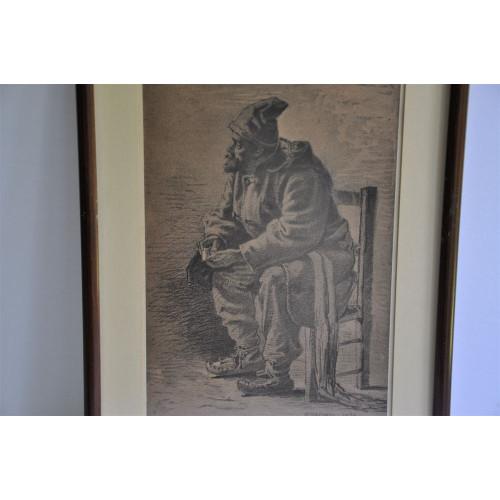 Habitant : Print of an original by William Raphael