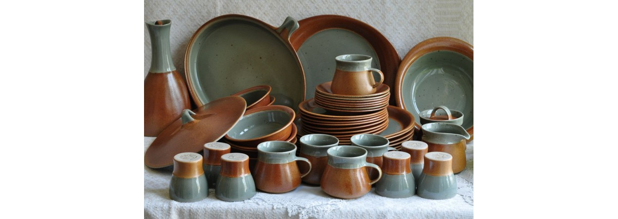 Celadon Grey Set of Dishes
