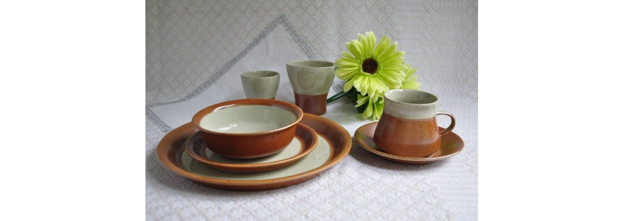 Seven pieces Sial Dinnerware