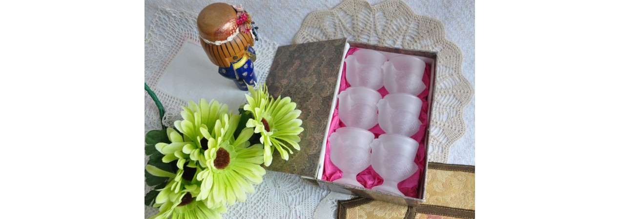 Frosted Glass Egg Cups