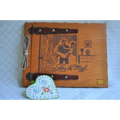 Album photo à couverture en bois La Sapinière
