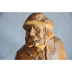 Signed Quebec Wood Carving  of a Countryman