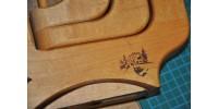 Chandelier en bois articulé à 3 porte-bougies