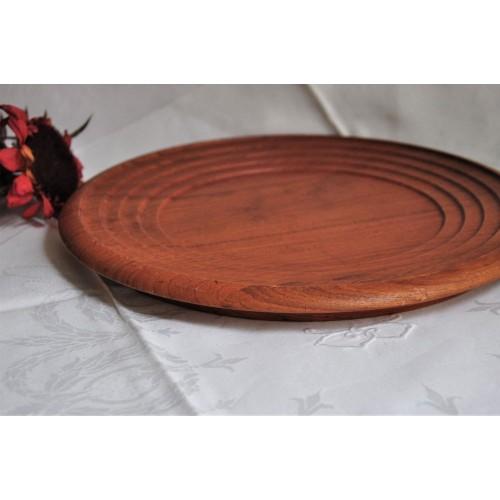 Solid Teak Wood Round Multipurpose Plate