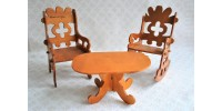 Petites table et chaise : art populaire laurentien