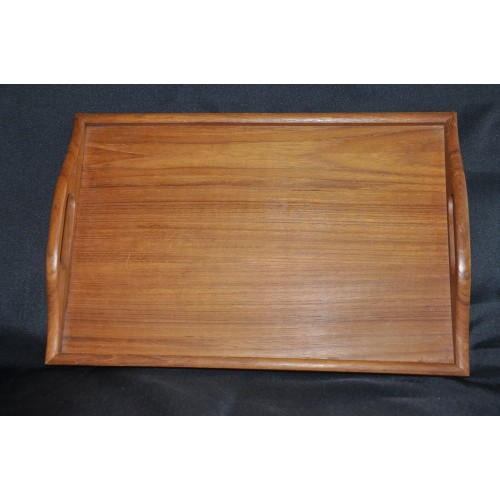 Solid Teak Wood Vintage Danish Style Serving Tray