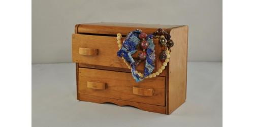Commode miniature deux tiroirs  en bois