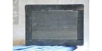 Boîte à sel bleue en bois massif
