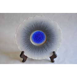 Wall Hanging Art Porcelain Plate Signed Langford