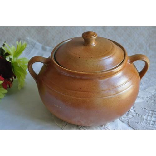 Very Rare Complete Sial Stoneware Bean Pot