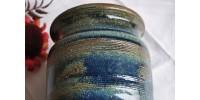 Grande jarre en grès émaillé signée