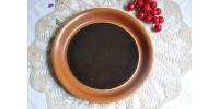 Assiette à pain SIAL brun tenmoku