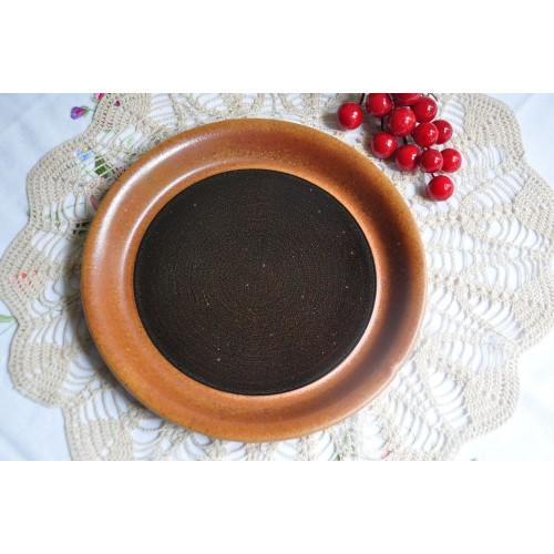 Sial Stoneware Bread/Butter Dark Brown Plate