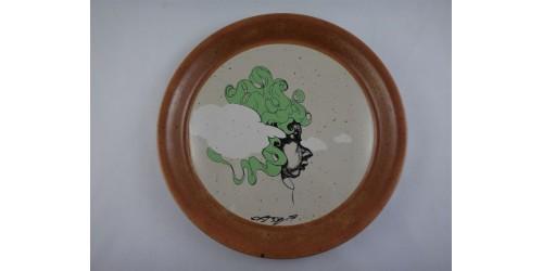 Rare Sial Stoneware Vintage Decorative Plate