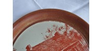 Assiette décorative en grès Maison Dubuc