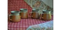 Petites tasses de 7,5 cm en grès Sial
