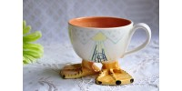 Whimsical Handmade Footed Coffee Cup