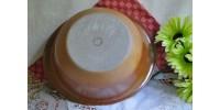 Grand saladier Sial Oval brun-noir et rouille