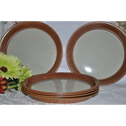 """Sial Stoneware Large Dinner Plates 10 3/8"""""""