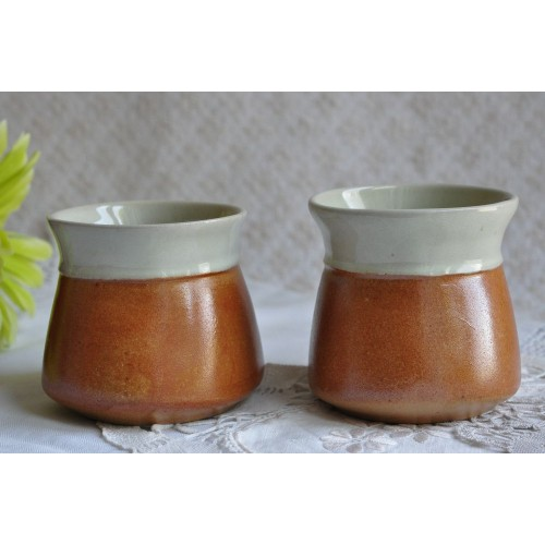 Vintage Sial Pottery No Handle Cups or Goblets