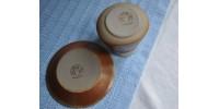 Saucière rouille et crème SIAL Oval en grès