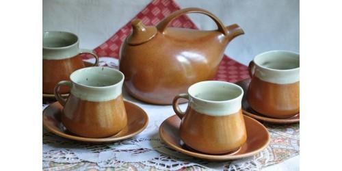 Service à thé design en grès Sial