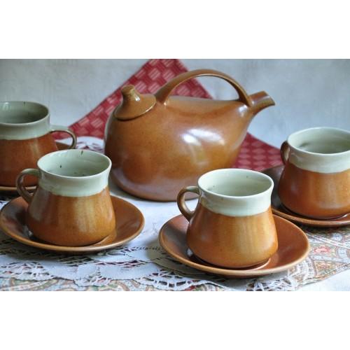 Sial Oval Tea Set with Design Teapot