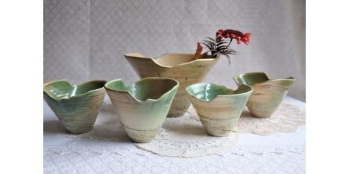 Ceramist Gilles Dionne Stoneware Serving Set